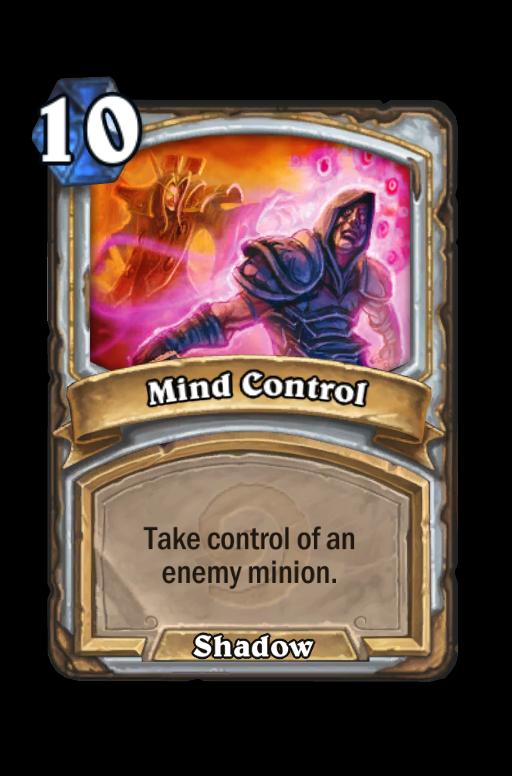 Mind Control Hearthstone kártya
