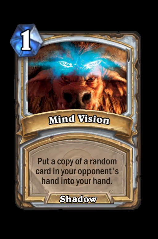 Mind Vision Hearthstone kártya