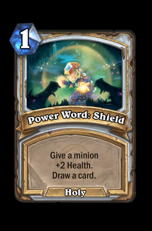 Power Word: Shield Hearthstone kártya
