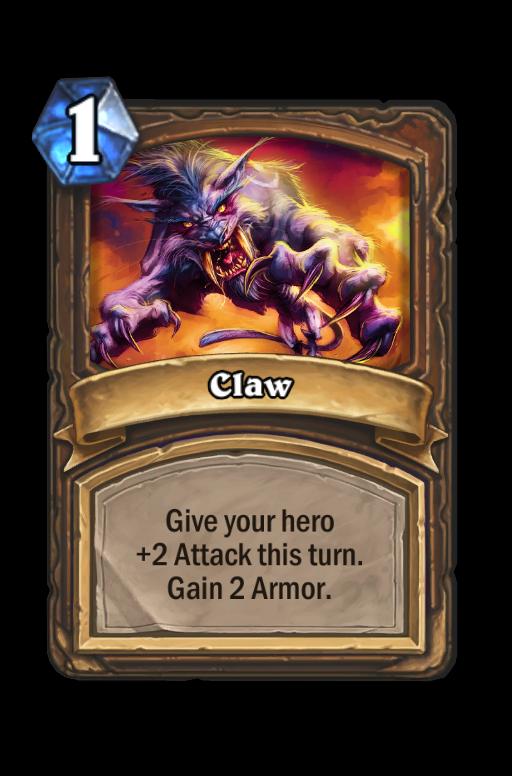 Claw Hearthstone kártya