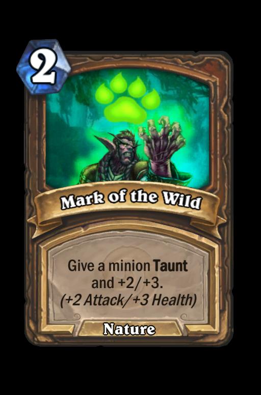 Mark of the Wild Hearthstone kártya
