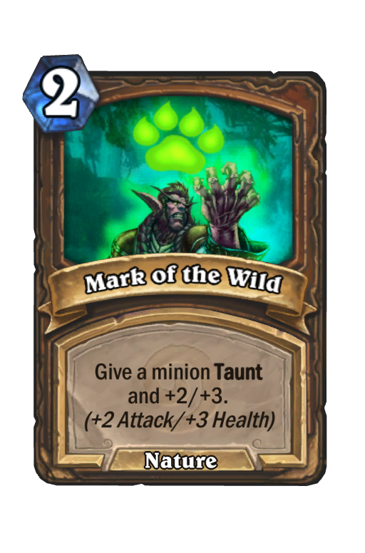 Mark of the Wild Hearthstone kártya