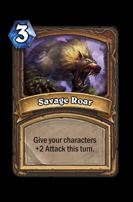 Savage Roar Hearthstone kártya