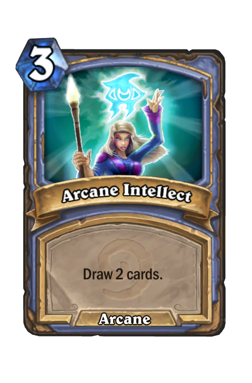 Arcane Intellect Hearthstone kártya