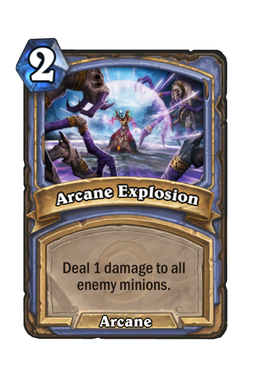 Arcane Explosion Hearthstone kártya