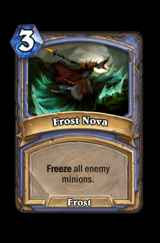 Frost Nova Hearthstone kártya