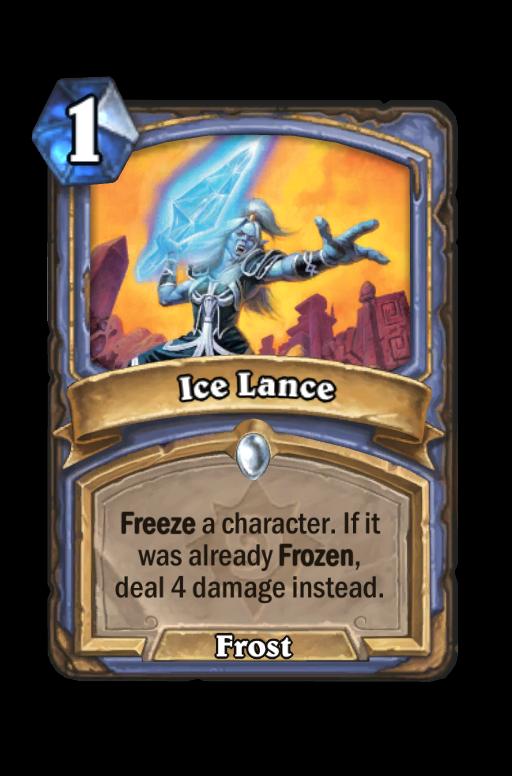 Ice Lance Hearthstone kártya