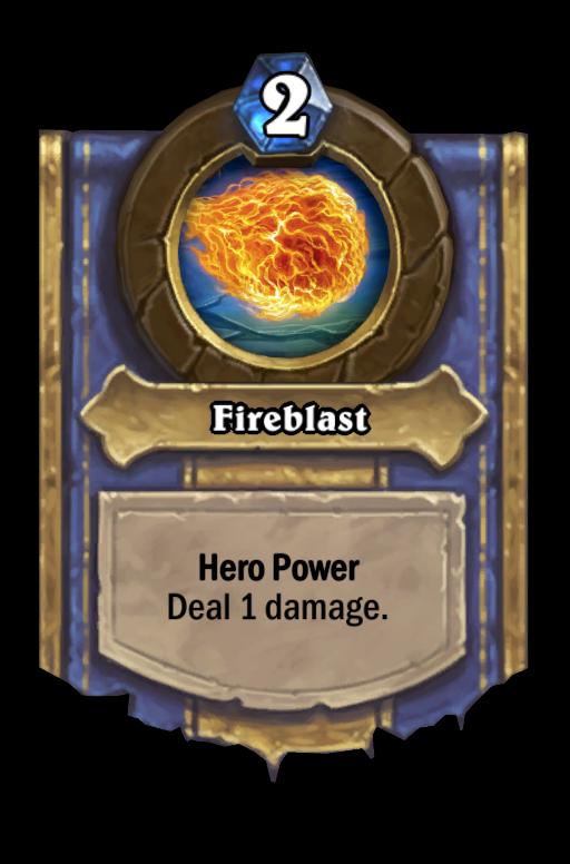 Fireblast Hearthstone kártya