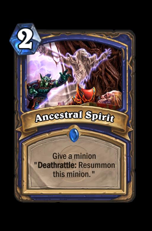 Ancestral Spirit Hearthstone kártya