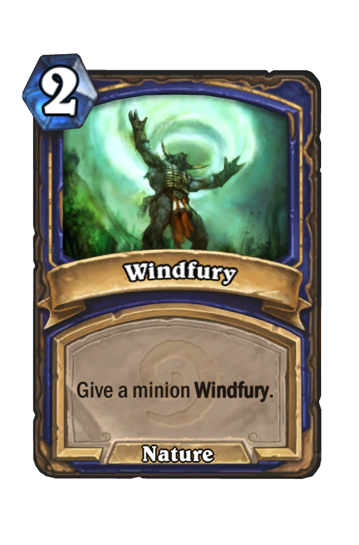 Windfury Hearthstone kártya