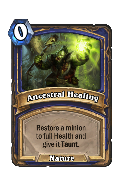 Ancestral Healing Hearthstone kártya