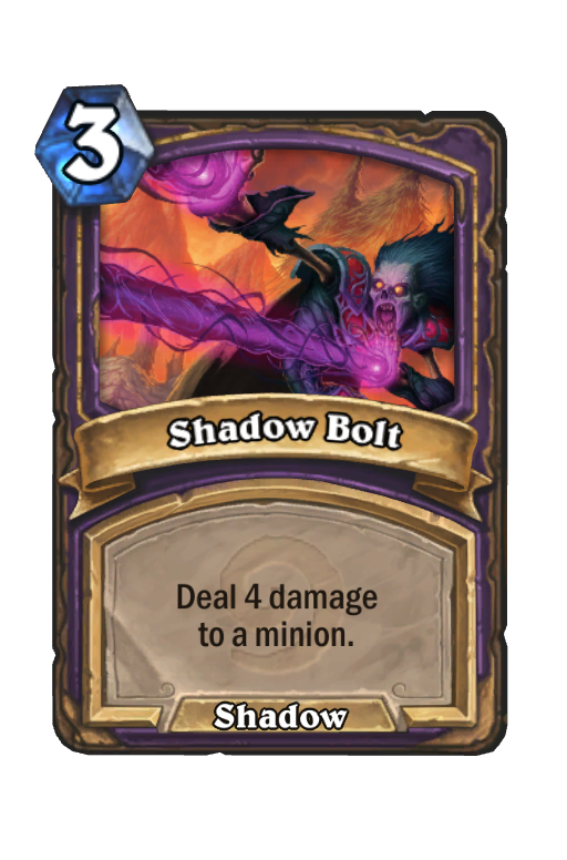 Shadow Bolt Hearthstone kártya