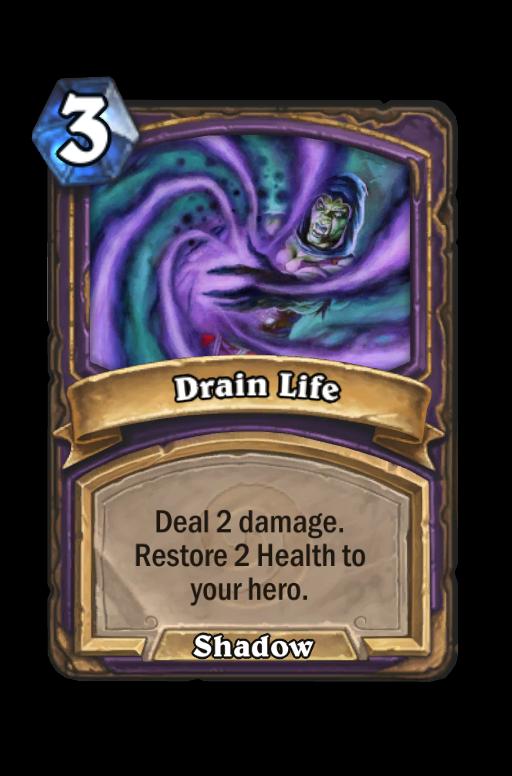 Drain Life Hearthstone kártya