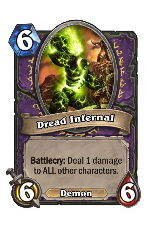 Dread Infernal Hearthstone kártya