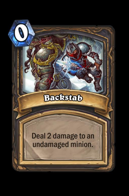 Backstab Hearthstone kártya