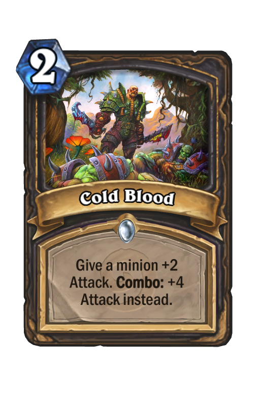 Cold Blood Hearthstone kártya