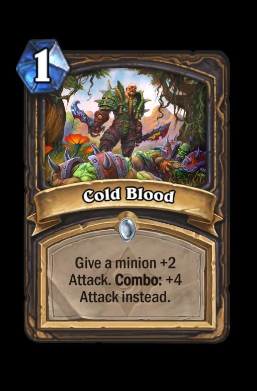 Cold Blood Hearthstone kártya