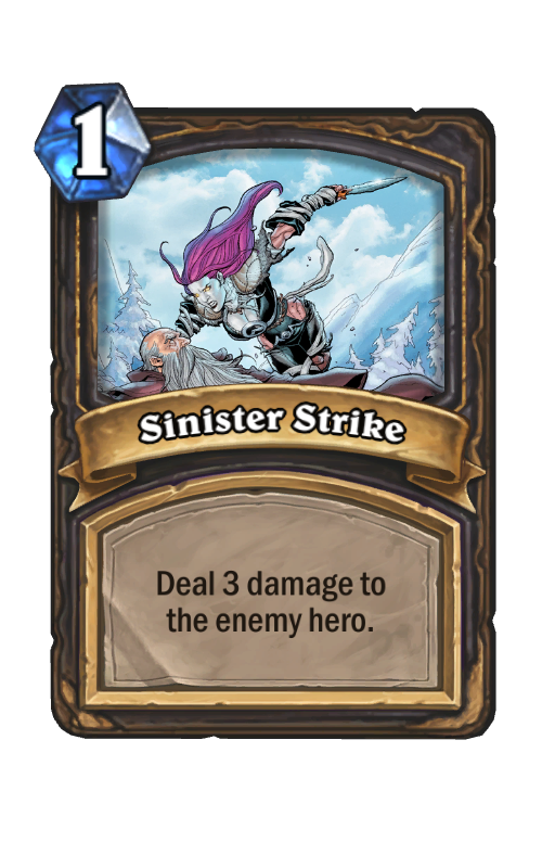 Sinister Strike Hearthstone kártya
