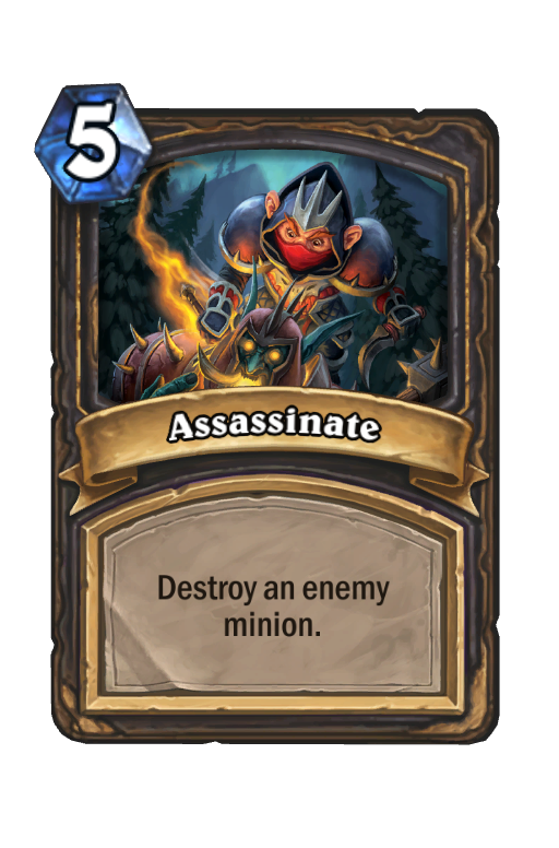 Assassinate Hearthstone kártya