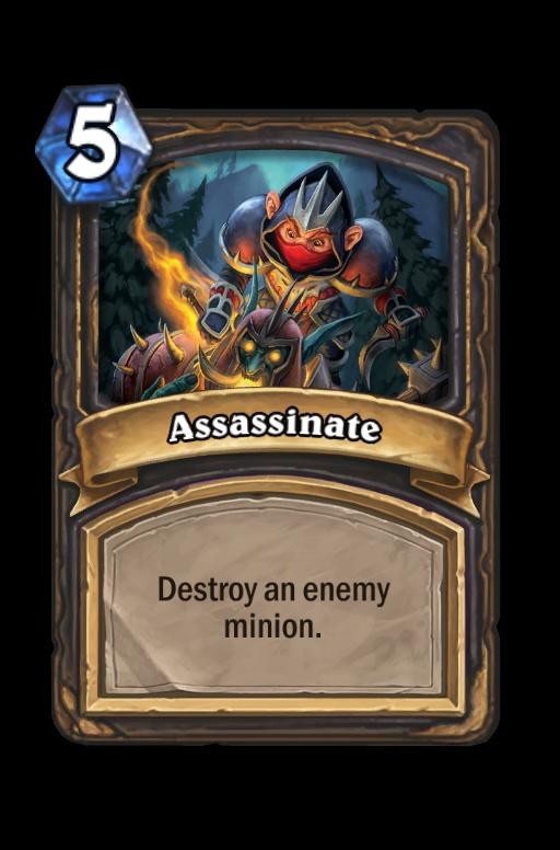 Assassinate Hearthstone kártya