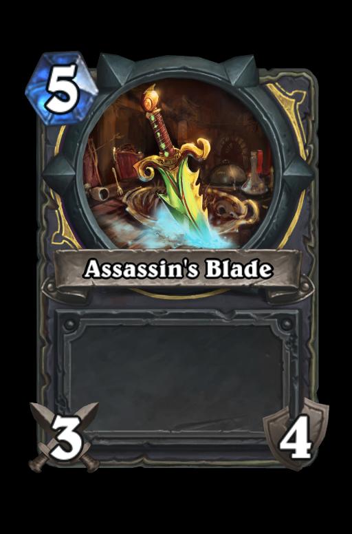 Assassin's Blade Hearthstone kártya
