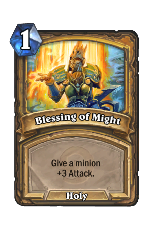 Blessing of Might Hearthstone kártya