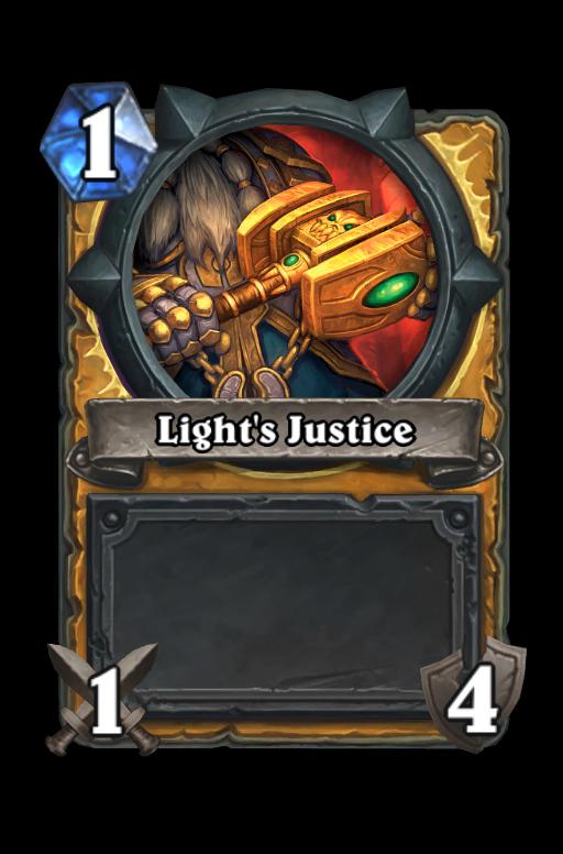Light's Justice Hearthstone kártya