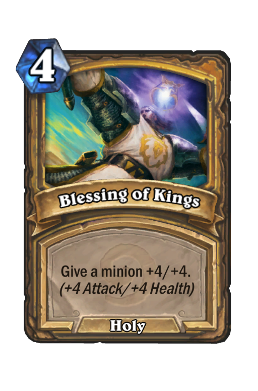 Blessing of Kings Hearthstone kártya
