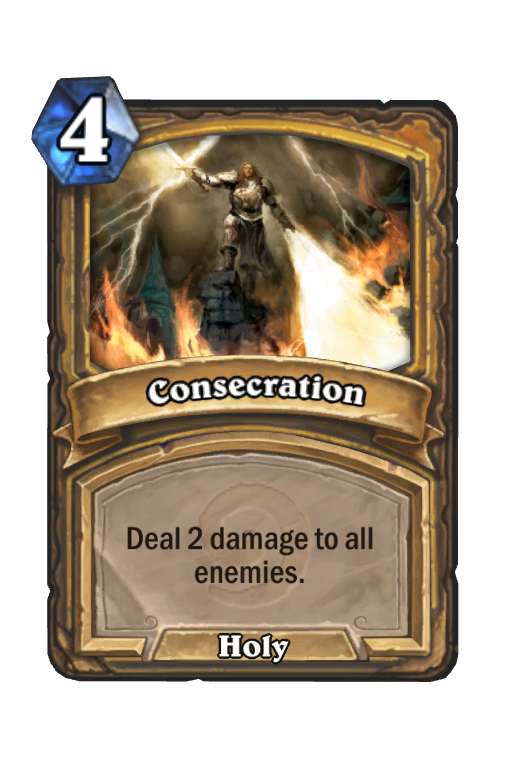 Consecration Hearthstone kártya
