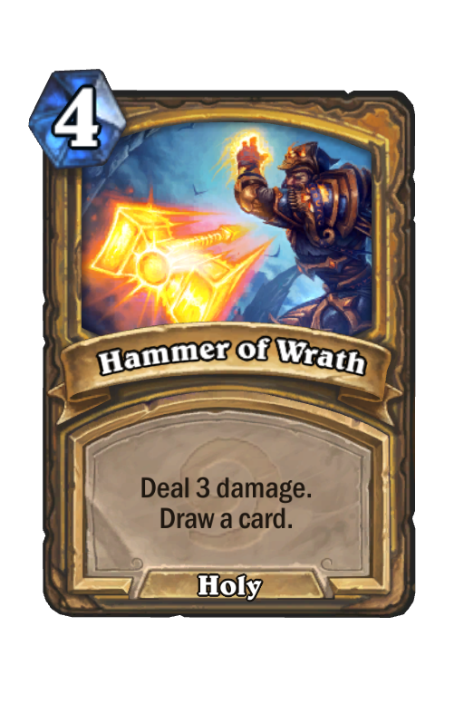 Hammer of Wrath Hearthstone kártya