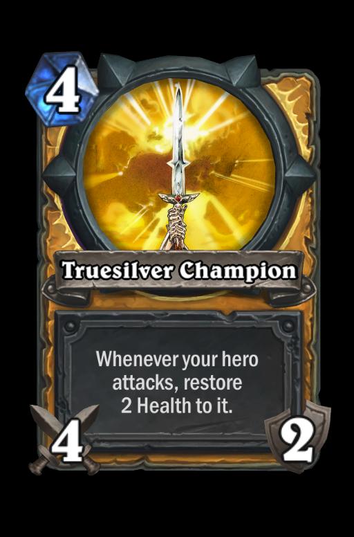 Truesilver Champion Hearthstone kártya