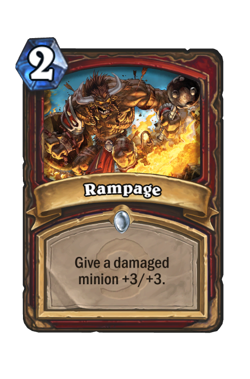 Rampage Hearthstone kártya