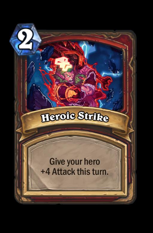 Heroic Strike Hearthstone kártya