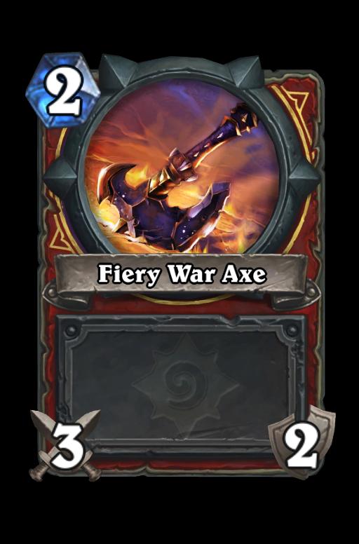 Fiery War Axe Hearthstone kártya