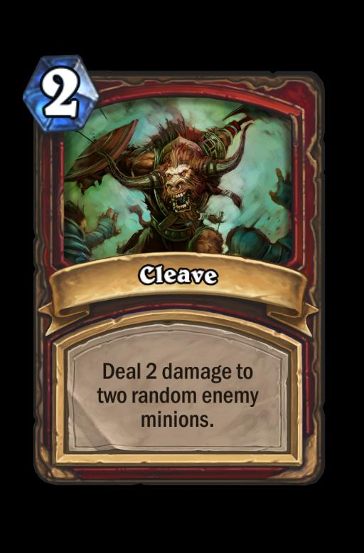 Cleave Hearthstone kártya