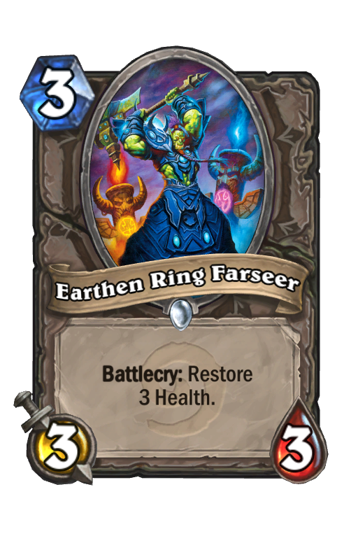 Earthen Ring Farseer Hearthstone kártya