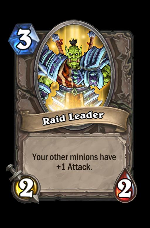 Raid Leader Hearthstone kártya