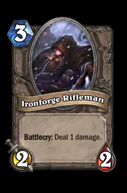 Ironforge RiflemanHearthstone kártya