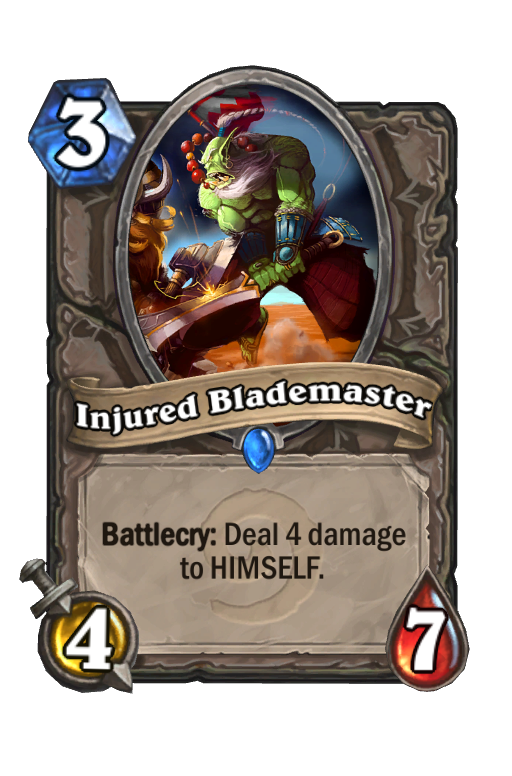 Injured Blademaster Hearthstone kártya