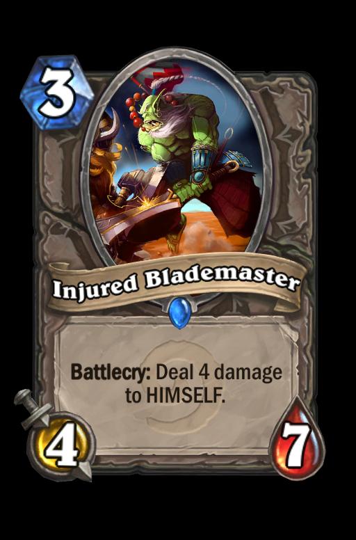Injured Blademaster Hearthstone kártya