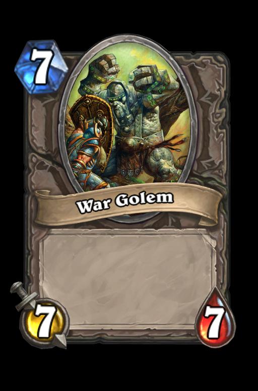 War Golem Hearthstone kártya