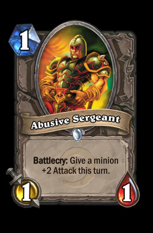 Abusive Sergeant Hearthstone kártya