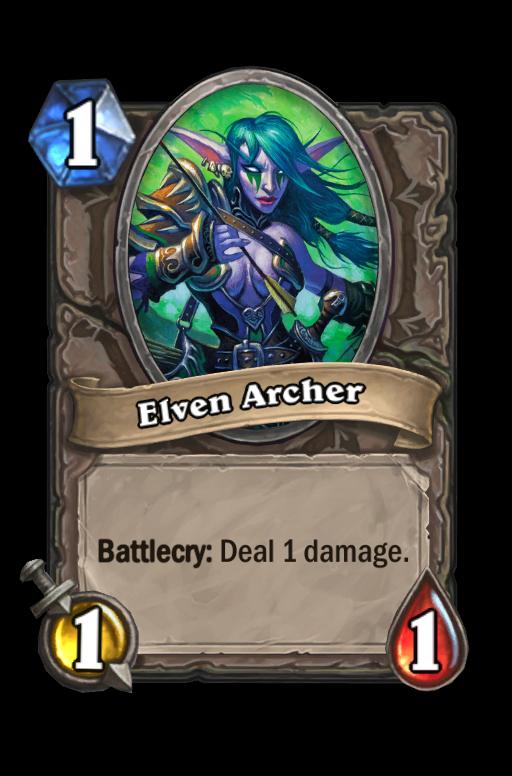 Elven Archer Hearthstone kártya
