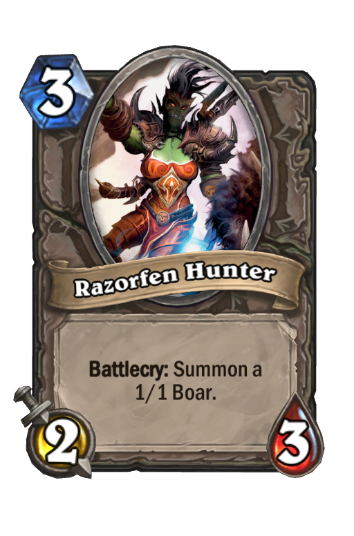 Razorfen Hunter Hearthstone kártya