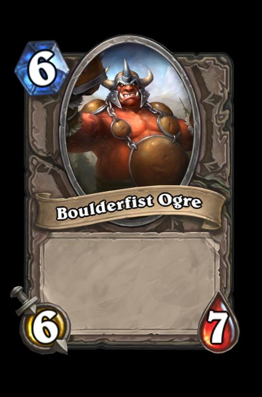 Boulderfist Ogre Hearthstone kártya