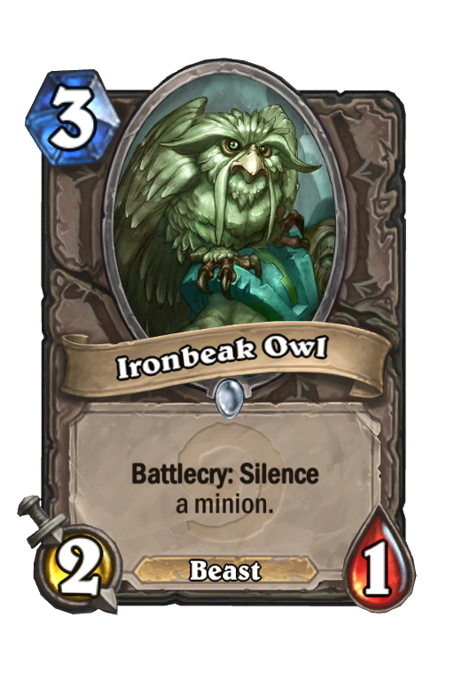 Ironbeak Owl Hearthstone kártya