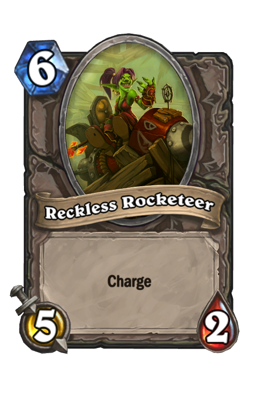 Reckless Rocketeer Hearthstone kártya