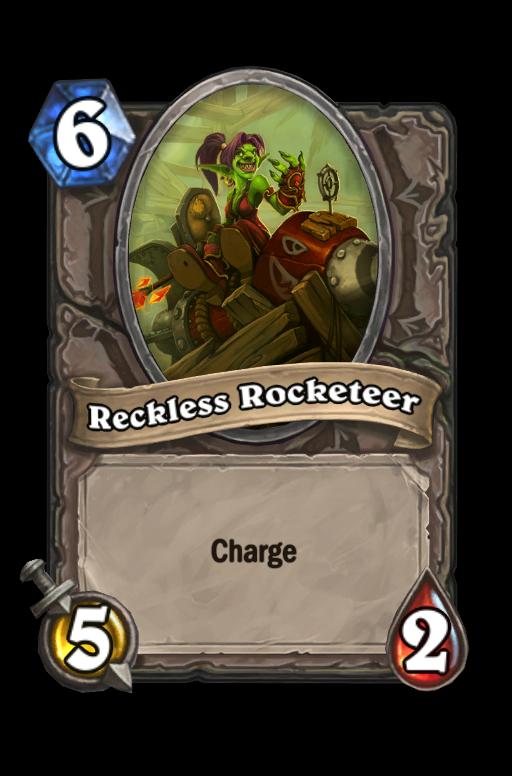 Reckless Rocketeer Hearthstone kártya