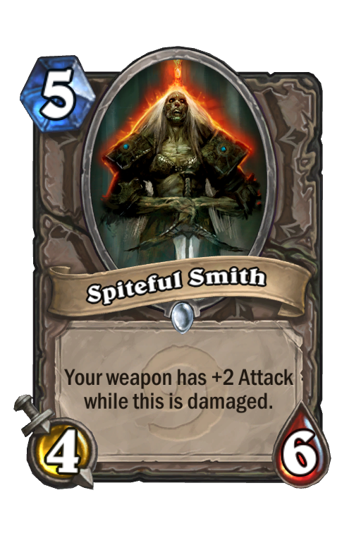 Spiteful Smith Hearthstone kártya
