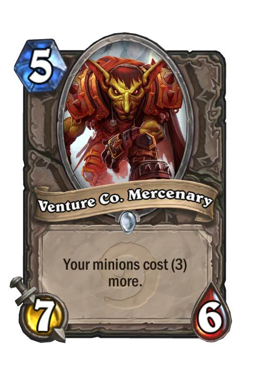 Venture Co. Mercenary Hearthstone kártya